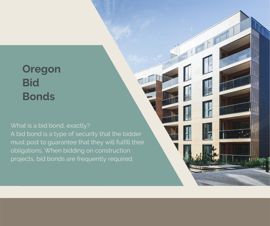 Oregon Bid Bond - What is a bid bond - Blue Building