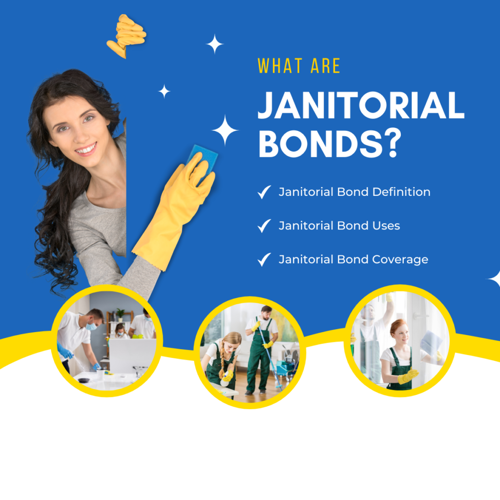 Janitorial Bonds - What are janitorial bonds - Individuals Cleaning in Blue White and Yellow Theme