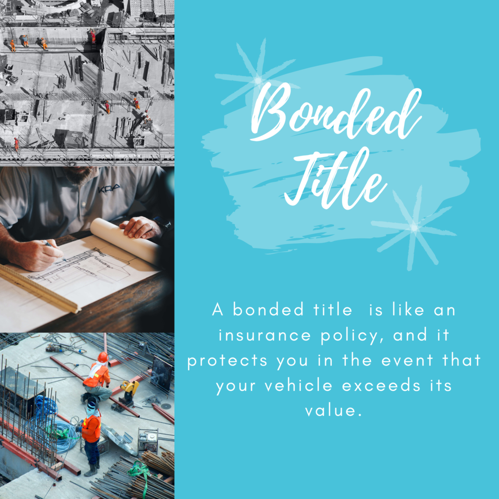 Bonded Title - What is a bonded title?- Bonded Title with Definition in Blue Background