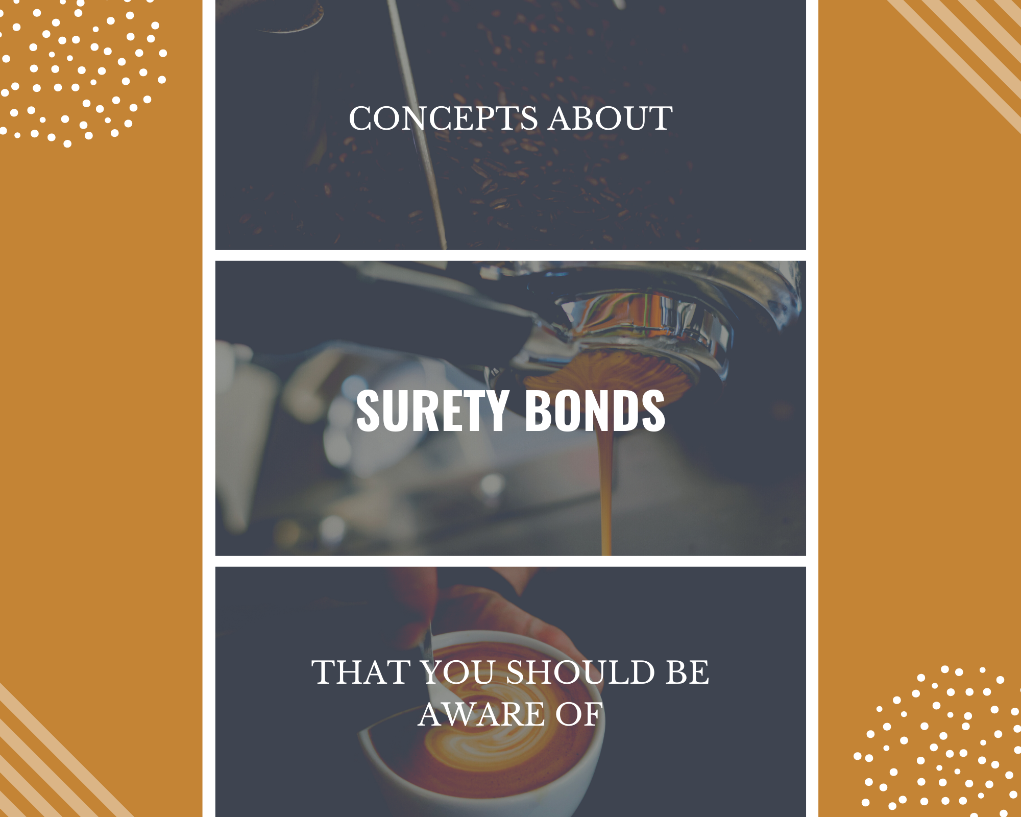 surety bond - How Do Surety Bonds Differ from Insurance - coffee collage