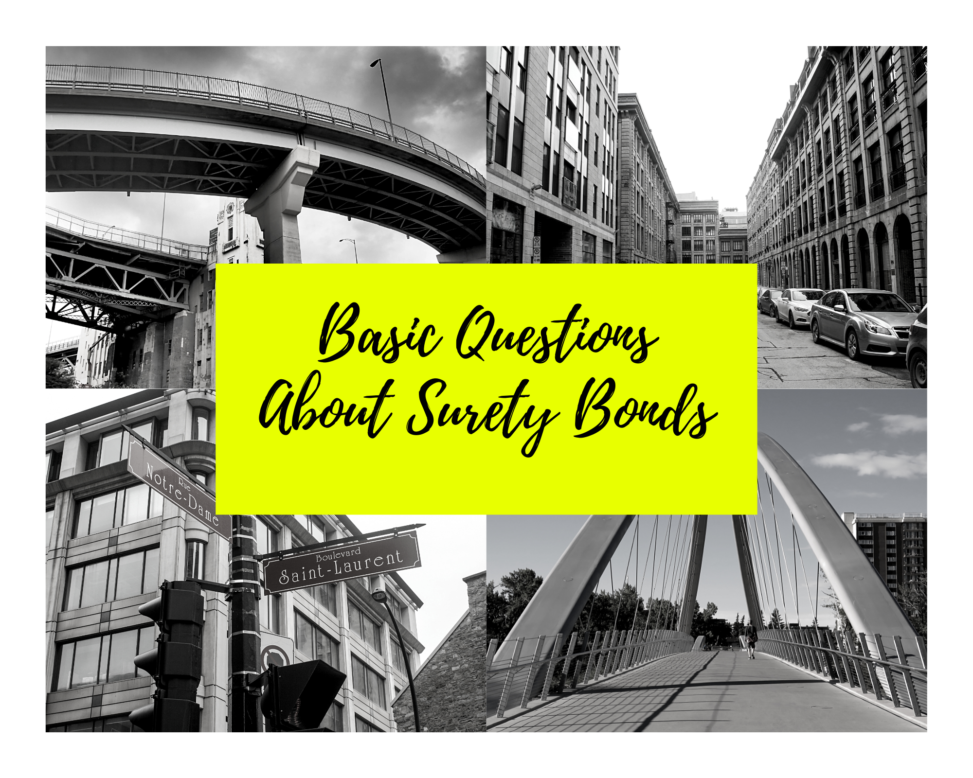 surety bonds - what is the definition of a surety bond - places in canada in black and white