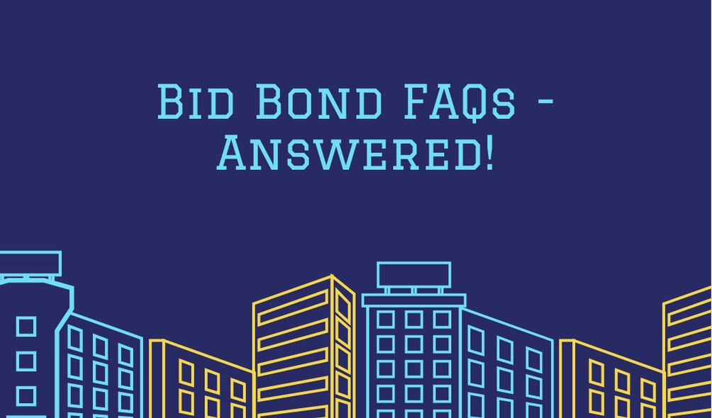 Bid Bonds - Are bid bonds mandatory - building outline in blue and yellow