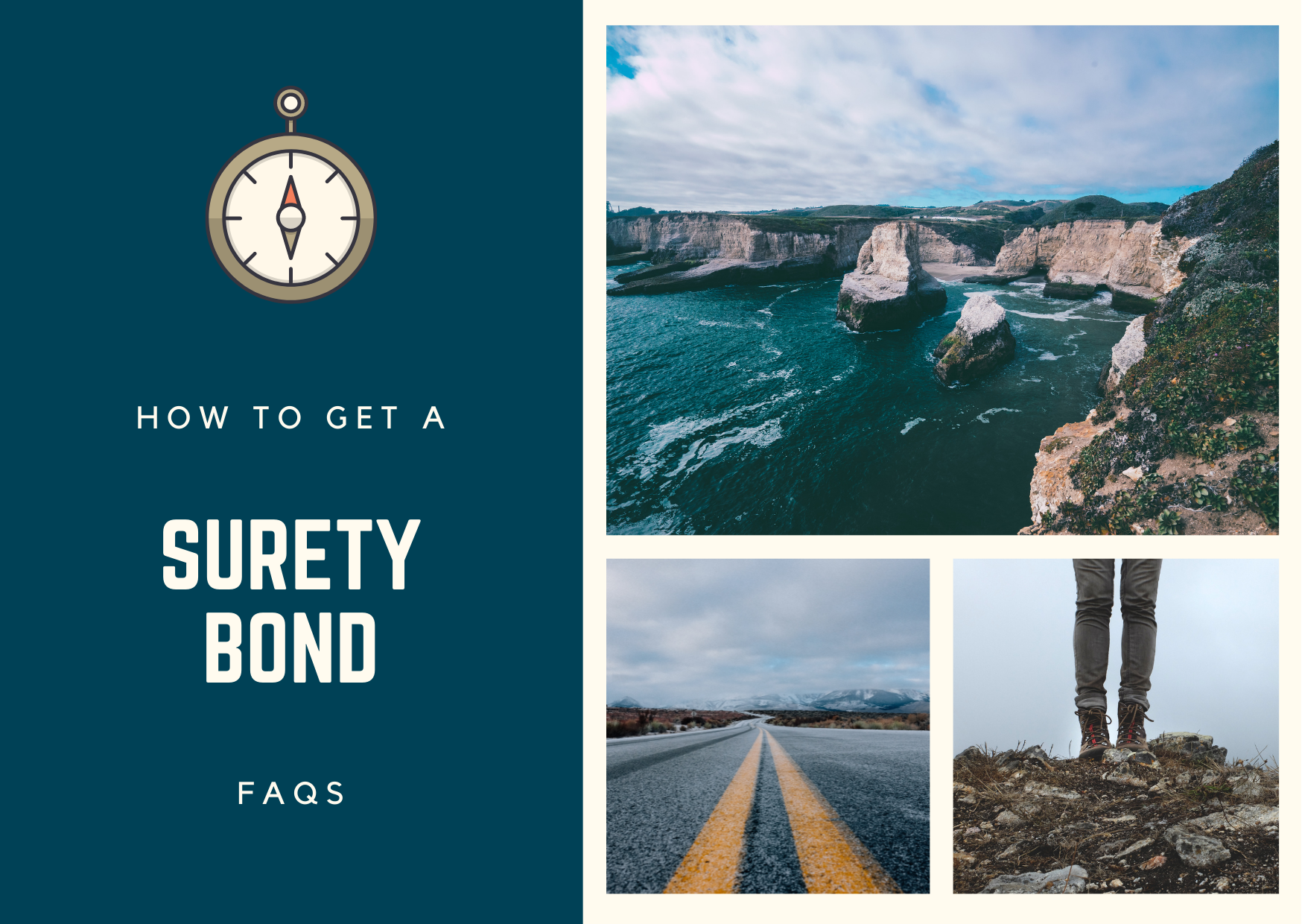 surety bonds - how do you get a surety bond - road and nature in blue shade