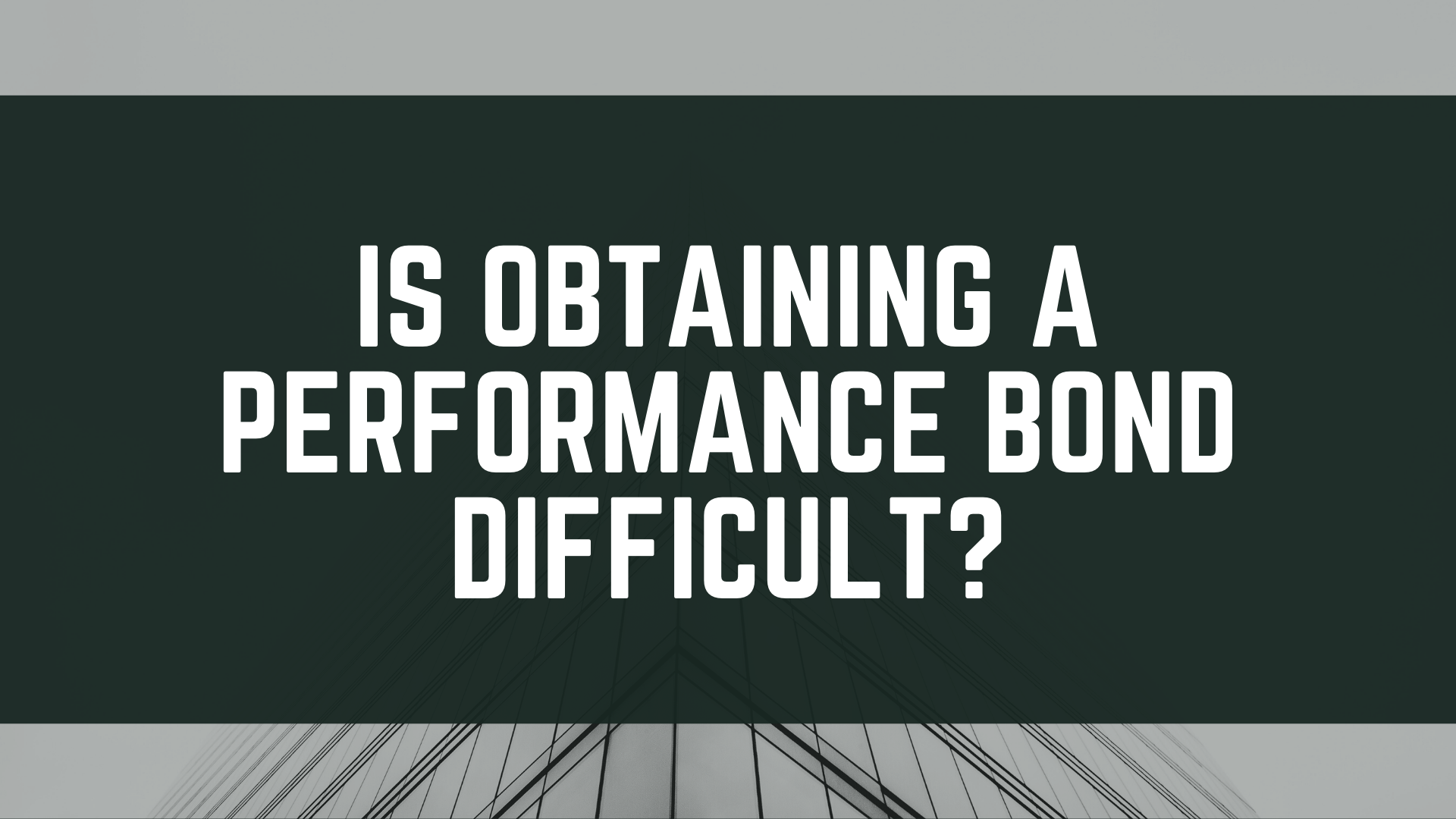 performance bond - what is the cost of a performance bond - building exterior