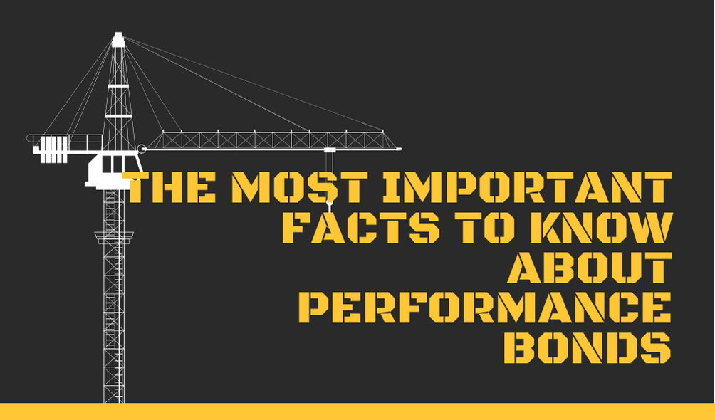 performance bonds - what is the cost of performance bond - crane in black and yellow background