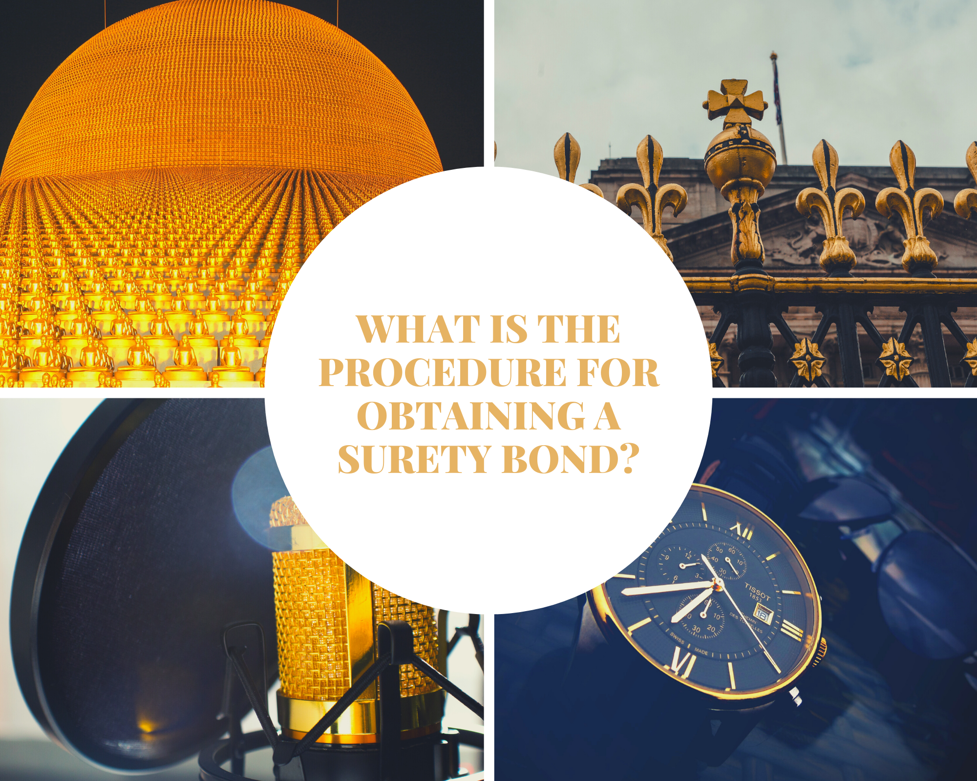 surety bond - what is the cost of obtaining a surety bond - collage in blue and yellow theme
